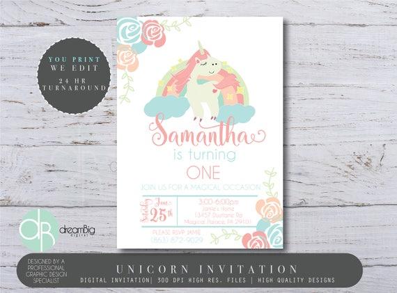 Magical unicorn invitation unicorn invitation rainbow birthday il570xn filmwisefo