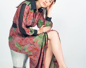 Palaka maxi blouse dress