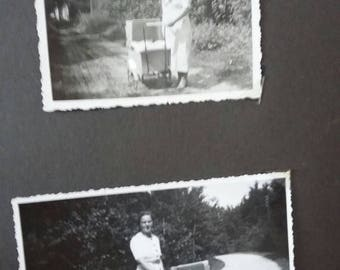 ON SALE Vintage 1940s photo album filled with photos photographs