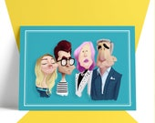 SCHITT'S CREEK - Hand Drawn Caricature - Poster Art Print