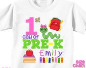 SALE Personalized 1st First Day of Pre-K Preschool Back to School Shirt T-shirt Girl Boy Kids Pre-K School Tee First Day of School Outfit