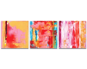 Abstract Wall Art 'Urban Triptych 3' by Celeste Reiter - Urban Decor Contemporary Color Layers Artwork on Metal or Plexiglass