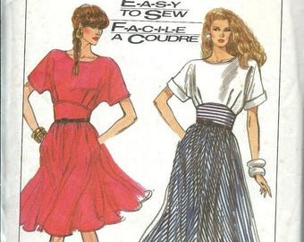 ON SALE Simplicity 8487 Misses Easy to Sew Dress Pattern, Two Lengths, 6-8-10