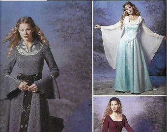 ON SALE Simplicity 9891 Misses Renaissance Costume Pattern, Size 6-12, UNCUT