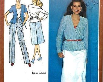 ON SALE Simplicity 9476 Misses Slim Skirt, Straight-Leg Pants And Unlined Jacket Pattern, Size 10,  UNCUT