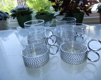 Vintage Set of four coffee glasses - Tsaikka  by Iittala - Timo Sarpaneva design