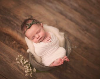OLIVE BOW Headband, Newborn Headband, Olive Headband, Baby Headbands, Olive Skinny Headband, Baby headbands, Newborn Photo Prop, Olive