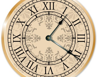 Roman Numerals Clock Face Etsy