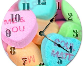 """10.5"""" QUOTED SWEET CANDY Clock - Living Room Clock - Large 10.5"""" Wall Clock - Home Décor Clock - 5141"""