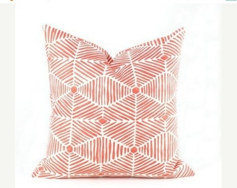 15% Off Sale PILLOWS, Decorative  Pillows Orange Pillow, Salmon Color Pillow, Pillow covers - throw pillows  Designer Pillow - Accent Pillow