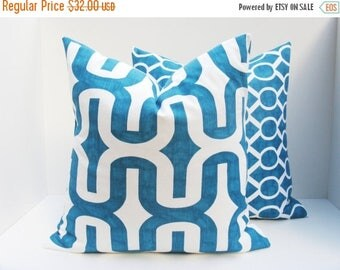 15% Off Sale Decorative pillows - Throw Pillows - Throw Pillow covers - Aqua Pillow - blue Pillow - Pillows - Pillow Covers - Accent pillow