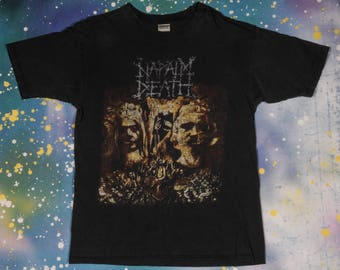 NAPALM DEATH Metal Rock T-Shirt Size L