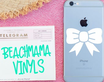 Simple Bow Decal, Bow Decal, Vinyl Decal, Simple Bow, Bow, Car Decal, Laptop Decal