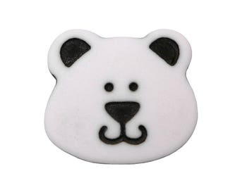 3 Ted-D 5/8 inch Teddy Bear (15 mm) Novelty Sewing Buttons