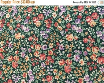 CIJ2017 Vintage Calico Cotton  Quilting Fabric , Small All-Over Print, Floral Design