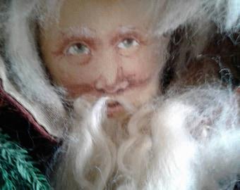 Hand made collectible folk art Santa by VIRGINIA'S AMERICAN FOLK dolls