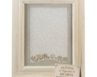 Rustic Shadow Box, Wedding Guest Book Frame, Keepsake Shadowbox Frame