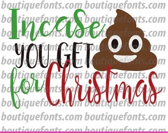 Crap for Christmas Toilet Paper SVG Cut File - Instant Download