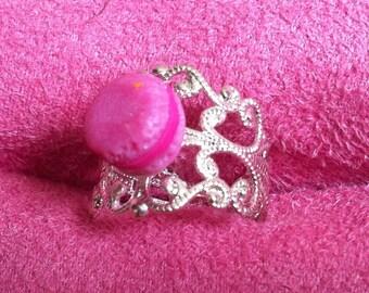 Mini macaroon ring pink