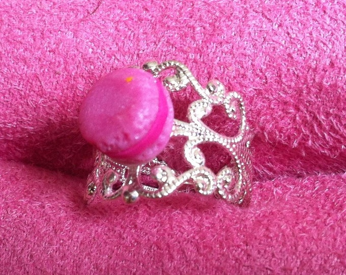 Mini macaroon ring pink