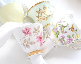 NAPKIN RINGS, Tea Cup Napkin Rings, Gifts for Her, Set of 4, High Tea Party, Little Princess Tea Party, Bridal Shower or Bachelorette Favors