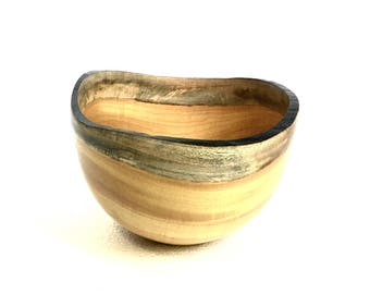 Wood Bowl No.170305- Natural Edge Amarello Wood