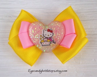 Yellow Kitty Hair Bow