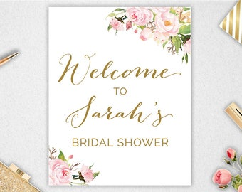 Bridal Shower Welcome Sign // Printable // Customised // Bridal Shower // Welcome Bridal Shower //  #PBP85