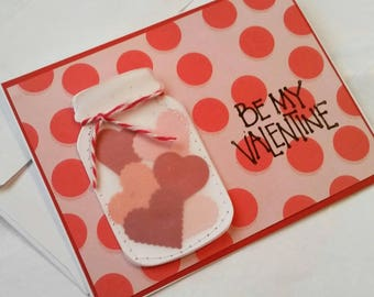 Sewn Valentines day card
