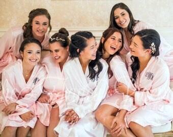 WEDDING ROBE - Satin Robes - Bridal Party Robes - Wedding Robes - Bridesmaid Gifts - Bride Robe - Satin Robe - Bridesmaid Robes - Silk Robes