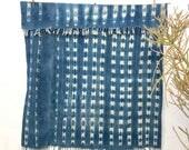 Vintage African Indigo Textile Indigo Throw Vintage Textile African Indigo Fabric Indigo Cloth Wall Hanging Hand dyed indigo mudcloth #90