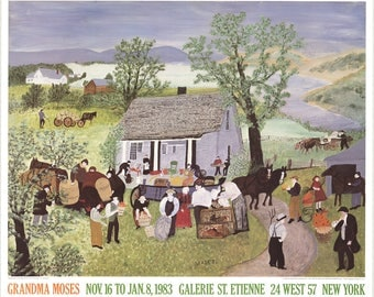 Grandma Moses-Moving Day on the Farm-1983 Poster