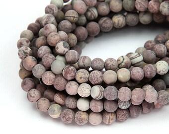 Natural Matte Artistic Jasper Beads, 6mm Round - 15 inch Strand - eGR-JA016-6