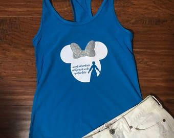 Belle Racerback | Beauty and the Beast Shirt | I want adventure in the great wide somewhere | Disney Shirt | Walt Disney World | Disneyland