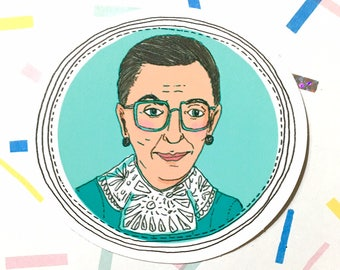 Ruth Bader Ginsberg Vinyl Sticker - Feminist Sticker - Feminist Decal - Girl Power