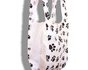 On Sale 8x16 PawPrint Plastic Merchandise Bags, Paw Print T-Shirt  Bags, Craft show Bags,  Animal Print Retail Plastic Bags (200Pack)
