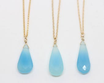 Gold chalcedony necklace, powerful healer and cleanser. Aqua Chalcedony Pendant Genuine Stones. natural stones aqua chalcedony