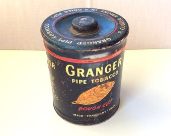 Rusty Granger Pipe Tobacco Tin Can, Vintage, Great Images