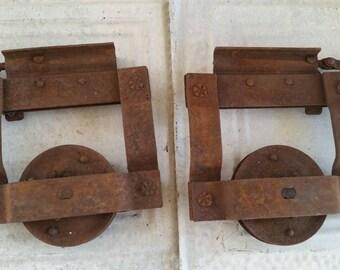Antique Pocket Door Rollers , Cast Iron Pocket Door Rollers , Pocket Door  Hardware , Sliding