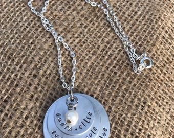Personalized Hand Stamped Name Necklace