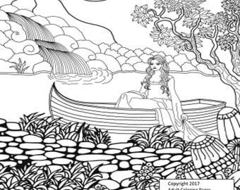 People Coloring Page Figure 6.  Printable Coloring Page, Instant Download, Adult Coloring Page.