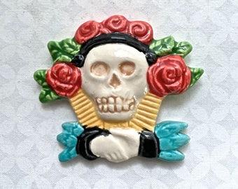 Day of the Dead Skull - Ceramic Tile  - Mosaic Supply