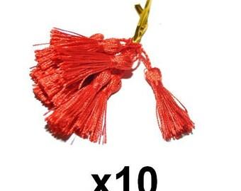 10 charms red tassels tassels 4.5 / 5cm