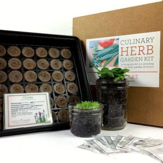 indoor herb garden kit culinary herb garden growing kit get started growing 28782