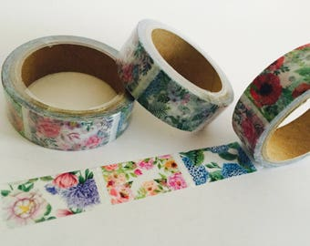 Floral Window Panes Washi Tape