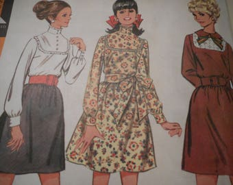 Vintage 1960's McCall's 9391 Dress Sewing Pattern Size 14 Bust 36