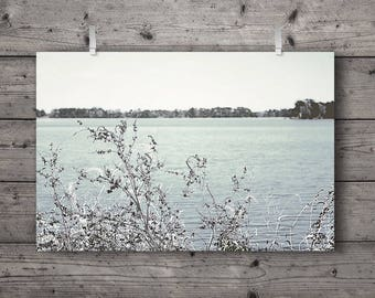 The Blues / Lake Landscape / Marsh Wetland & Woodland Nature Photography Print / Wildlife Preserve / Outdoors Decor / Soft Wall Art