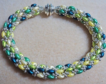 Green, Blue, and Yellow Daydreamer Rope Bracelet