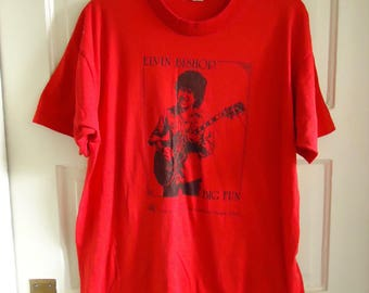 Vintage 80s ELVIN BISHOP Promo T Shirt sz M/L