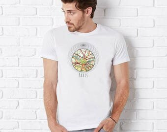 Outdoors Gifts, Paris T Shirt, Clothing Gifts, Paris Gifts, Travel Gifts for Girlfriend Gifts, Outdoors Tee Vintage Paris Map Unisex T Shirt